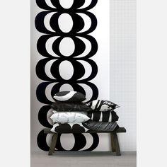 Marrimekko Wallpaper  Kaivo 55x118 Black White  on Fab.com