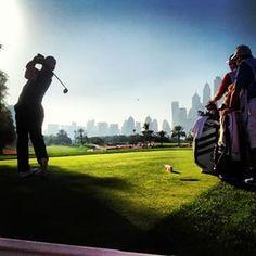 Sergio Garcia yesterday ahead of the 26th Omega Dubai Desert Classic #dubai #abudhabi #golf #uaegolf