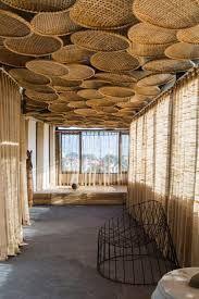 interior home design ideas Bamboo Architecture, Interior Architecture, Contemporary Architecture, Bamboo House Design, Patio Design, Restaurant Interior Design, Cafe Design, Ceiling Design, Ceiling Ideas