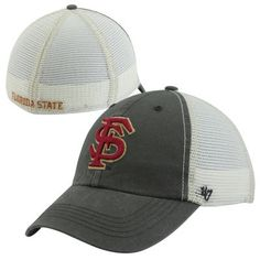 d0d9abc240089  47 Brand Florida State Seminoles (FSU) Caprock Canyon Flex Hat -  Charcoal White