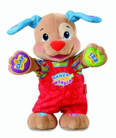 Fisher-Price Laugh & Learn Dance And Play Puppy by Fisher-Price, http://www.amazon.com/dp/B004ORV2WK/ref=cm_sw_r_pi_dp_W6Cwqb0EW19XV