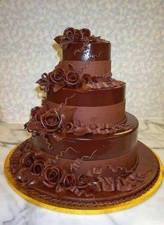 #Chocolate #Wedding #Cake