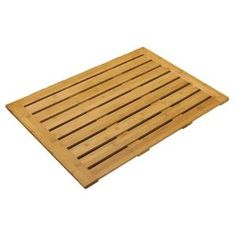 Seville Classics 22 in. x 28 in. Bamboo Bathroom Floor Mat-BMB17070 at The Home Depot
