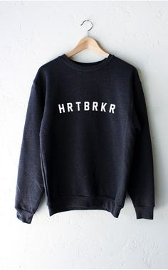Hrtbrkr Sweater - Dark Heather Grey