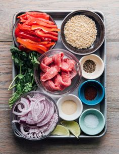 Sheet Tray Fajita Rice Bowl