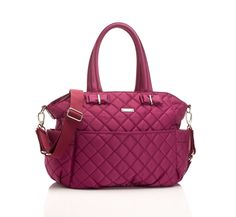 Bobby Quilted Diaper Bag in Magenta