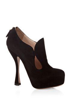Jesus... I love these!  Prada Suede Platform Pump