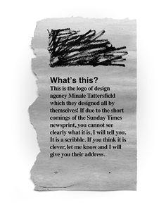 Minale Tattersfield identity. Scribbled all by itself in 1964!