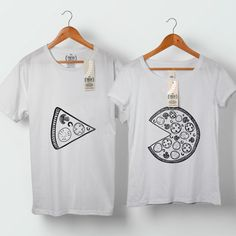 Welcome to FreshTshirtCo Clothing Shop!  The Missing Piece To Her Pizza Pie Couple Tshirt.  ♥ Want to see more FRESH Couple Tshirts? Please click