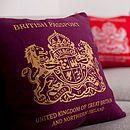 British passport cushion