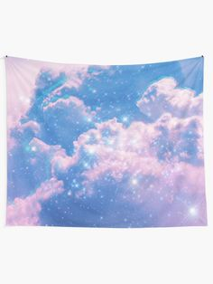 """Clouds Aesthetic Glitch"" Tapestry by ind3finite 