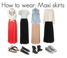 How to Wear Maxi Skirts;