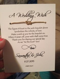 The Wedding Favors Are Going To Have This Love Knot In Them With Mine And John S
