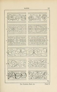 A handbook of ornament Bands page 149 the undulate band