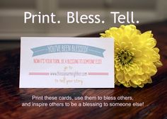 You've Been Blessed! {Free Printable Cards for blessing others}