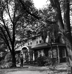 The house where Jimmy Stewart grew up in Indiana, Pennsylvania, about 50 miles outside Pittsburgh, seen in 1945.