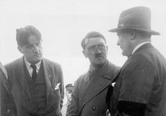 Adolf Hitler, in lively conversation with   Hermann Goering and the Nazi press chief Ernst Franz Hanfstaengl, 1932.  https://sites.google.com/site/warrenbellauthor/