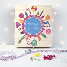 Personalised Lollipop Wreath Sweet Box