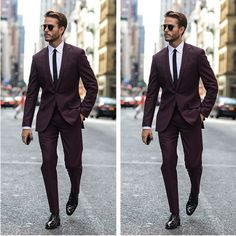 Prom ideas for 2018. Black slim fit pants, slim fit jacket, tie to match dress of date. Trendy but not overly dressy!