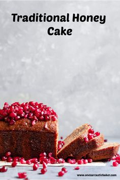 Jewish honey cake is soft, sweet and non dairy. An easy, soft and dairy free recipe for Rosh Hashanah. Fun Baking Recipes, Homemade Cake Recipes, Honey Recipes, Best Dessert Recipes, Dairy Free Recipes, Fun Desserts, Sweet Recipes, Delicious Desserts, Baker Recipes