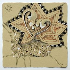 News from #Zentangle ~ Ren tile by Maria Thomas