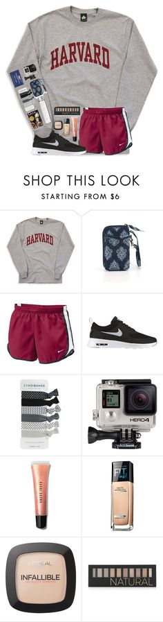 """QOTD"" by mmprep ❤ liked on Polyvore featuring Vera Bradley, NIKE, GoPro, Bobbi Brown Cosmetics, Maybelline, L'Oréal Paris and Forever 21"