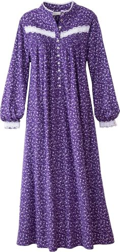 aeadc4ea61 Eileen West Forget Me Not Flannel Nightgown