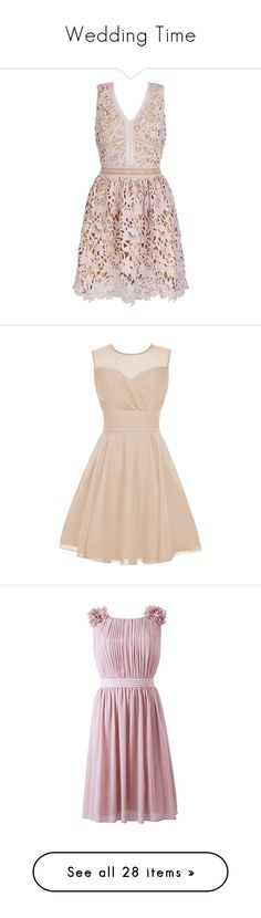 """Wedding Time"" by keepfashion92 ❤ liked on Polyvore featuring dresses, vestidos, pink dress, mink pink dress, skater dress, pink skater dress, mink dress, flower dress, little mistress and flower skater dress"