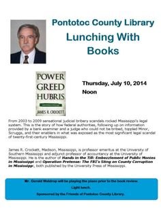 Lunching With Books - Pontotoc County Library July 10 @ Noon