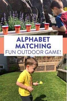 This relay game is such a fun way to have preschool or kindergarten students match uppercase and lowercase letters! Head over to the blog to see how to play the game and find some other skills to use with this activity!