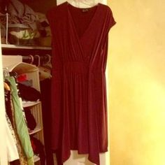 I just added this to my closet on Poshmark: Max and Cleo burgundy dress with tie. Price: $40 Size: L
