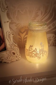 Recycled Jam Jar with WOW! Embossing Powders