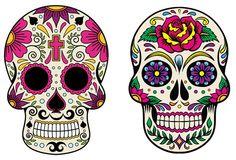 Sugar Skull Painting, Sugar Skull Decor, Sugar Skull Art, Sugar Skulls, Crane, Disney Princess Tattoo, Colorful Skulls, Mexican Skulls, Skulls And Roses