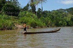 Hidrovia do Rio Gregório que da acesso as comunidades dos índios Yawanawa no sul da Amazônia brasileira no Estado do Acre.