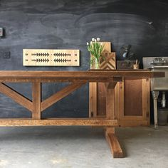 Solid Reclaimed and Rough Sawn Red Oak Farm Dining by newantiquity