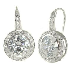 Circle drop diamond earrings