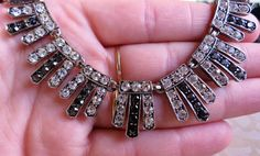 Vintage 80's Art Deco revival clear & black by InTheMagpiesNest69