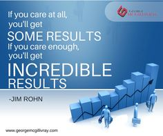 If you care enough, you'll get incredible results.     www.georgemcgillivray.com