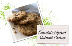 A tasty treat that is good for you - Chocolate Spiked Oatmeal Cookies! Yummy recipe!! Find this and more at facebook.com/JolenesWraps