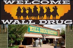 South Dakota turned out to be a fun state to visit. The Wall Drug Store is among the famous sites not to mention Mount Rushmore. Oh The Places You'll Go, Places To Travel, Wall Drug, Roadside Attractions, Spring Green, New Adventures, South Dakota, Small Towns, Travel Pictures