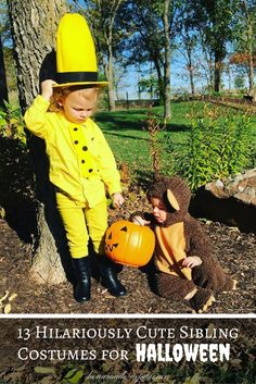 13 clever, cute and funny sibling halloween costumes ideas for this Halloween!