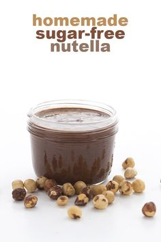 The best low carb chocolate hazelnut spread - this keto Nutella recipe is creamy, smooth and irresistibly delicious!