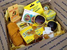 """sunshine in a box""  fun idea for a care package"