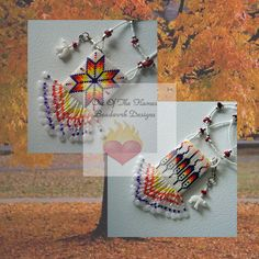 Bead PATTERN Morning Star Reversible Amulet Bag by Outoftheflames, $6.50