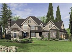 Eplans New American House Plan - Five Bedroom New American - 6020 Square Feet and 5 Bedrooms(s) from Eplans - House Plan Code HWEPL65879