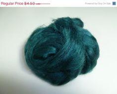 SALE 1 oz  Silk Roving ,color Ireland
