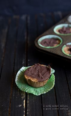 Chocolate Almond Butter Freezer Fudge Cups - Paleo Recipes, Gluten-free Recipes and Grain-free Recipes