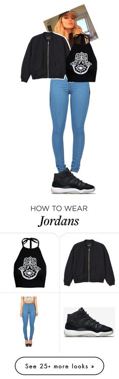 """""""Blackout"""" by kaykayxolove on Polyvore featuring Monki and NIKE"""
