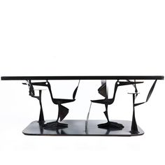 Sculptural Steel and Brass Birds Coffee Table by John-Paul Philippe