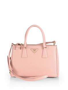 Prada - Saffiano Lux Small Tote - @yourbag.yourlife http://yourbagyourlife.com/